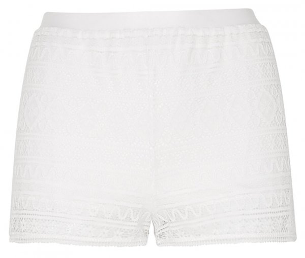 EVA Bohemian Lace Shorty Weiss