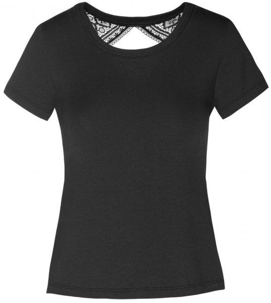 EVA Bohemian Lace Shirt halb Arm Schwarz